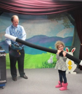 Your child will wave a wand that is bigger than she is!