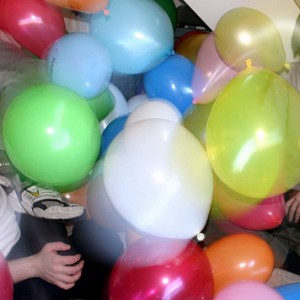 A frenzy of balloons!