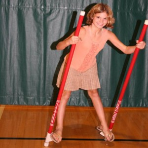 circus classes St. Louis - stilts