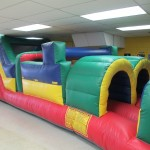 inflatable 2 lane obstacle course