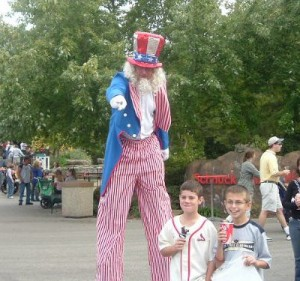stilt walkers St. Louis