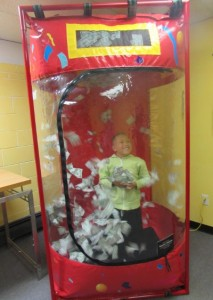 money machine - your child wins special birthday prize