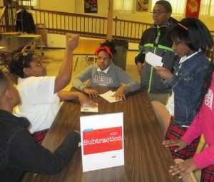 math carnival - subtraction activity station