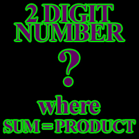 Math Puzzle - Sum Equals Product