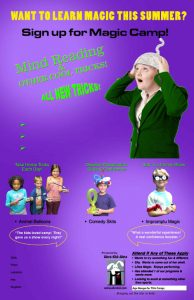 poster-magic camp: mind reading