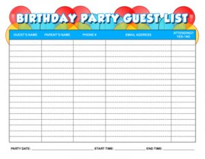 birthday rsvp form