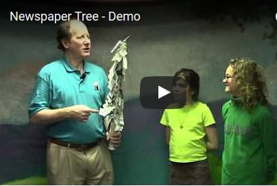 Learn Magic - Newspaper tree