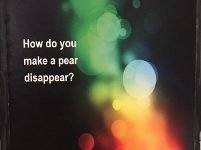 puzzler: pear disappear