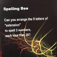 puzzler: spelling bee